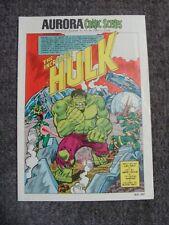 Aurora Comic Scenes #184 - 140 The Incredible Hulk - Marvel - Herb Trimpe art KK
