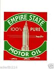 """""""EMPIRE STATE"""" OIL MIXING CAN VINYL Sticker Decal Garage Service Station Petrol"""