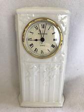 "Wedgwood Classic Garden Mantle Desk Table Clock Fine Earthenware 1996 England 8"""