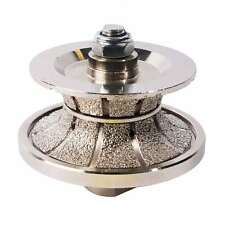 """3/4"""" Full Bullnose Vacuum Brazed Diamond Profile Wheel & Female Threads V20Fbpw"""