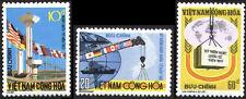 SOUTH VIETNAM June 22, 1974 International Aid Day: Globe, Flags, Map 484-486 MNH