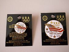 "Vintage 1996 Atlanta Summer Olympic Games USA ""No Guts, No Glory"" Team pin set"