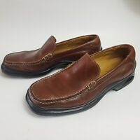 Cole Haan Nik Air Sole Men's US Sz 9 M Brown Leather Loafers Slip On Dress Shoes