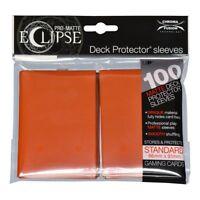 Ultra Pro Matte Deck Protector Sleeves ECLIPSE PUMPKIN ORANGE 100 MAGIC POKEMON