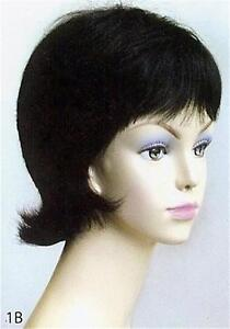 100% Human Hair, Cute, Short Straight Hair Wig w/ Bangs - Sarah Wig