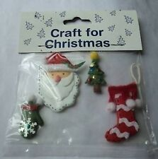 SET CHRISTMAS EMBELLISHMENTS FOR CARDS OR CRAFTS