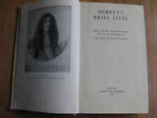 John Aubrey's Brief Lives, ed. Oliver Lawson Dick (London, 1950): Stuart period.