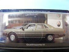 Maserati Quattroporte III in Met. Gold  1983 1:43rd Scale Model by Leoni Spa.