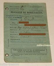 FASCICULE de MOBILISATION d'un 2ème Classe daté Paris le 15 Octobre 1927