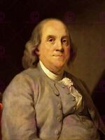 Painting Portrait Polymeth Benjamin Franklin Founding Father Canvas Art Print