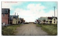 Early 1900s Main Street, Swanville, MN Postcard