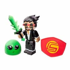 """Tube Heroes Jazwares Gaming Captain Sparklez 3"""" Action Figure New Great Gift"""