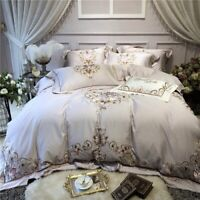Luxury Egyptian Cotton Bedding Set 4pcs Fitted Sheet Set Duvet Cover Bed Set