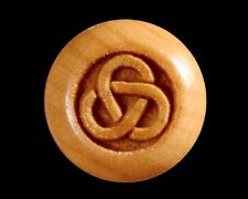 Bridge Pins for Guitar, Boxwood Engraved Celtic Tri-Ring