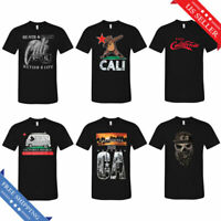 Cali Life Tee California Republic Men's Street Urban Graphic T-Shirt Black New