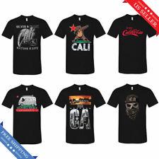 Cali Life Tee California Republic Men's Street Urban Graphic T-Shirt Black New