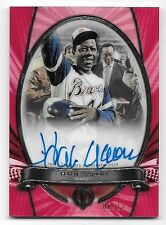 2017 Topps Tribute To The Moment Red #HA Hank Aaron On Card Autograph #06/10