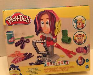 Play-Doh Crazy Cuts Stylist Hair Salon Playset 8 Tri-Colors Can 2 Ounces Each