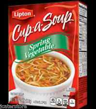 3 Boxes of Lipton Cup-A-Soup Spring Vegetable - 1.9oz Box-4 Envelopes per box