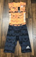 NEW Adidas Climalite Running Suit Sprint Suit Track Field Suit Size Medium