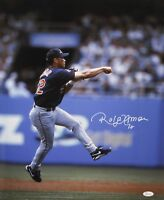 Roberto Alomar Signed Cleveland Indians 16x20 Fist Up In Air Photo- JSA W Auth