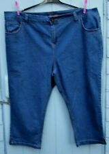 Evans womens Denim blue cropped jeans size uk plus 26 New without tags