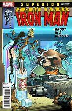 SUPERIOR IRON MAN 1 RARE ROCKET RACCOON & GROOT VARIANT