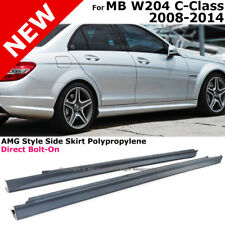 Mercedes Benz W204 08-14 C-Class Sedan C63 AMG Style Side Skirts Rocker Panel