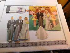 Paper Dolls -Stand-up Cut Out Dolls Wedding Book #777 Natl Syndicate Displ - 3-D