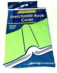 BRIDGEPORT One Size Fits Most Stretchable Book Cover Reuse & Washable GREEN