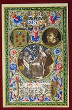 "PAPA LEONE X POPE LEO X  postcard illustrata no viaggiata  ""900 f/p #21553"
