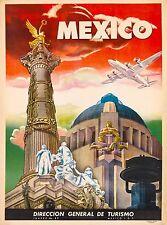 Mexico Direccion General de Turismo Vintage Travel Advertisement Art Poster