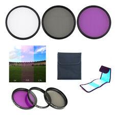 62mm Filter kit UV CPL FLD & Filter Case for Fujifilm GF 50mm f/3.5 R LM WR Lens