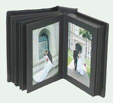 Professional Photo Album 4x6 Genuine Leather 12 pages Slip-in