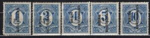 MEXICO 1914 STAMP Sc. # 434/8 MH