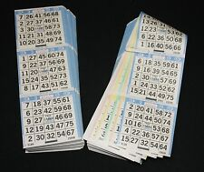 BINGO PAPER Cards sheets 3 on 5 Blue Border rottation 100 packs FREE SHIP