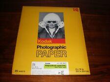 NOS Vintage Kodak Polycontrast Rapid II RC 8 x 10 Paper, Unopened 25 Pack