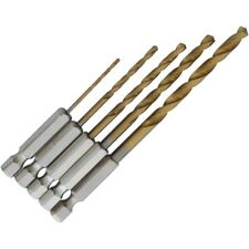 5 Piece Titanium Coated Hex Shank Wood/metal Drill Bit Set - 48mm 5pc 14 1 2 32
