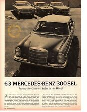 1969 MERCEDES-BENZ 300SEL 6.3 ~ ORIGINAL 4-PAGE ROAD TEST / ARTICLE / AD