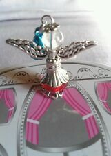 Hot Little Acrylic Christmas Angel Pendant For Necklace Bracelet Ornaments 1pc.