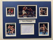 """Boxeo Terry Flanagan firmado exhibición montado doble 16"""" X 12"""""""