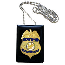 US CTU Officer Special Agent Badge + ID Card Holder Counter Terrorist Unit 24 hr