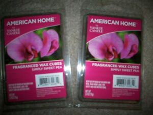 YANKEE CANDLE SIMPLY SWEET PEA Wax Melts American Home 2 Packs 12 Cubes retired