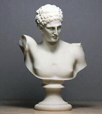Greek God Hermes messenger (Decorative alabaster bust statue 22cm)