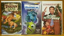 WALT DISNEY - TARZAN & JANE - MONSTERS, INC - JINGLE ALL THE WAY - VHS