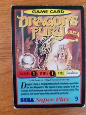 Sega Super Play Card #9 Dragons Fury