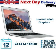 "Apple MacBook Air 13.3"" Intel i5 3rd-Gen 1.8GHz 4GB RAM 64GB SSD Mid 2012 Mojave"