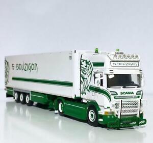 "Scania streamline topline reefer trailer ""S.Bouzigon"" WSI truck models 01-3424"