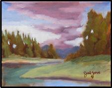 JOEL Love Art Original Oil Painting River Landscape Young Emerging Artist Signed