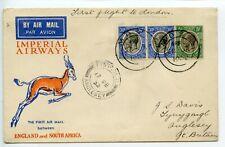 "TANGANYIKA Imperial Airways Springbok 1932.1.28 ""First flight to London""/JSDavis"